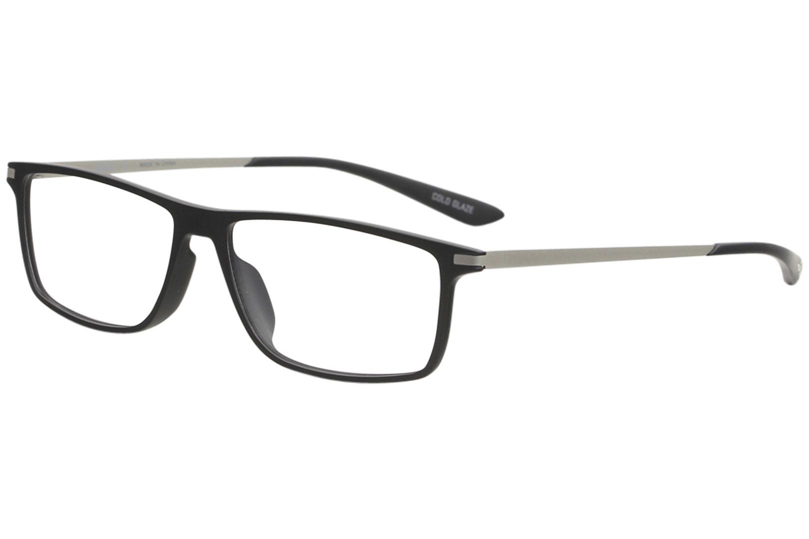 1f3608e3bb25 Puma Eyeglasses 005 PU0115O PU/0115/O Black/Silver Full Rim Optical ...