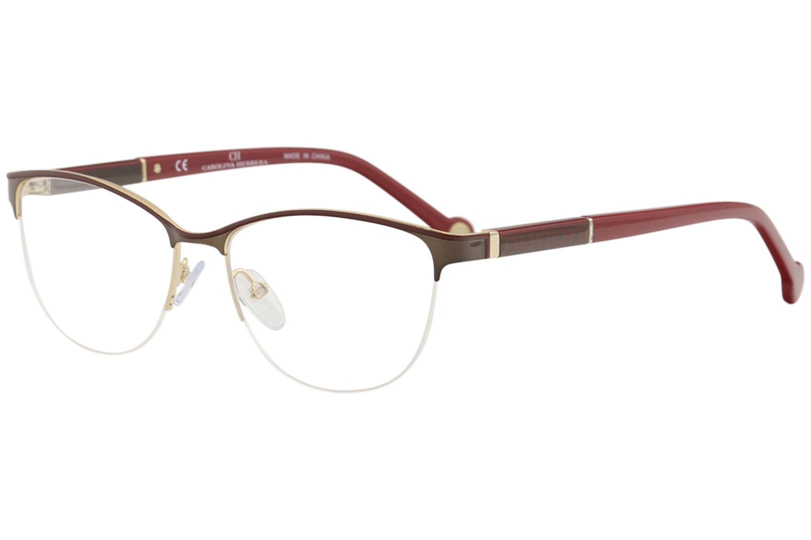 c543e7c601 CH Carolina Herrera Eyeglasses VHE079K VHE 079 K 0SB1 Brown Optical ...
