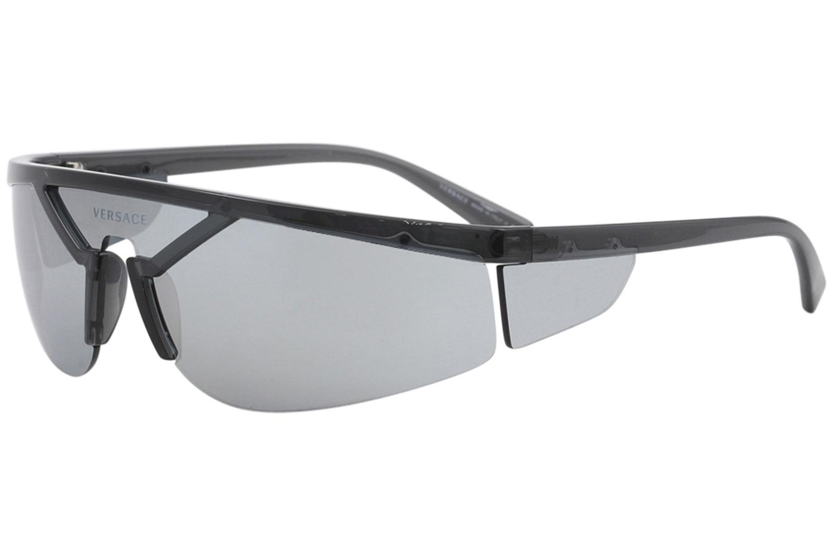 f9e9e7a64a Details about Versace Men s VE4349 VE 4349 52811U Transparent Dark Grey  Sunglasses 80mm