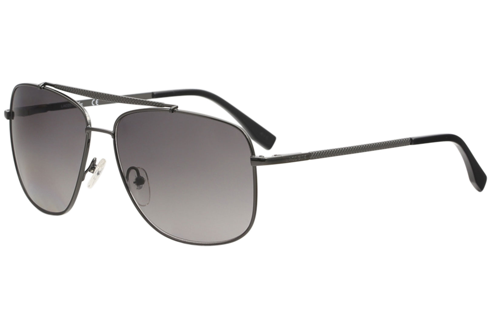 9e9b5fce78e Lacoste Men s L188S L 188 S 033 Gunmetal Fashion Pilot Sunglasses ...