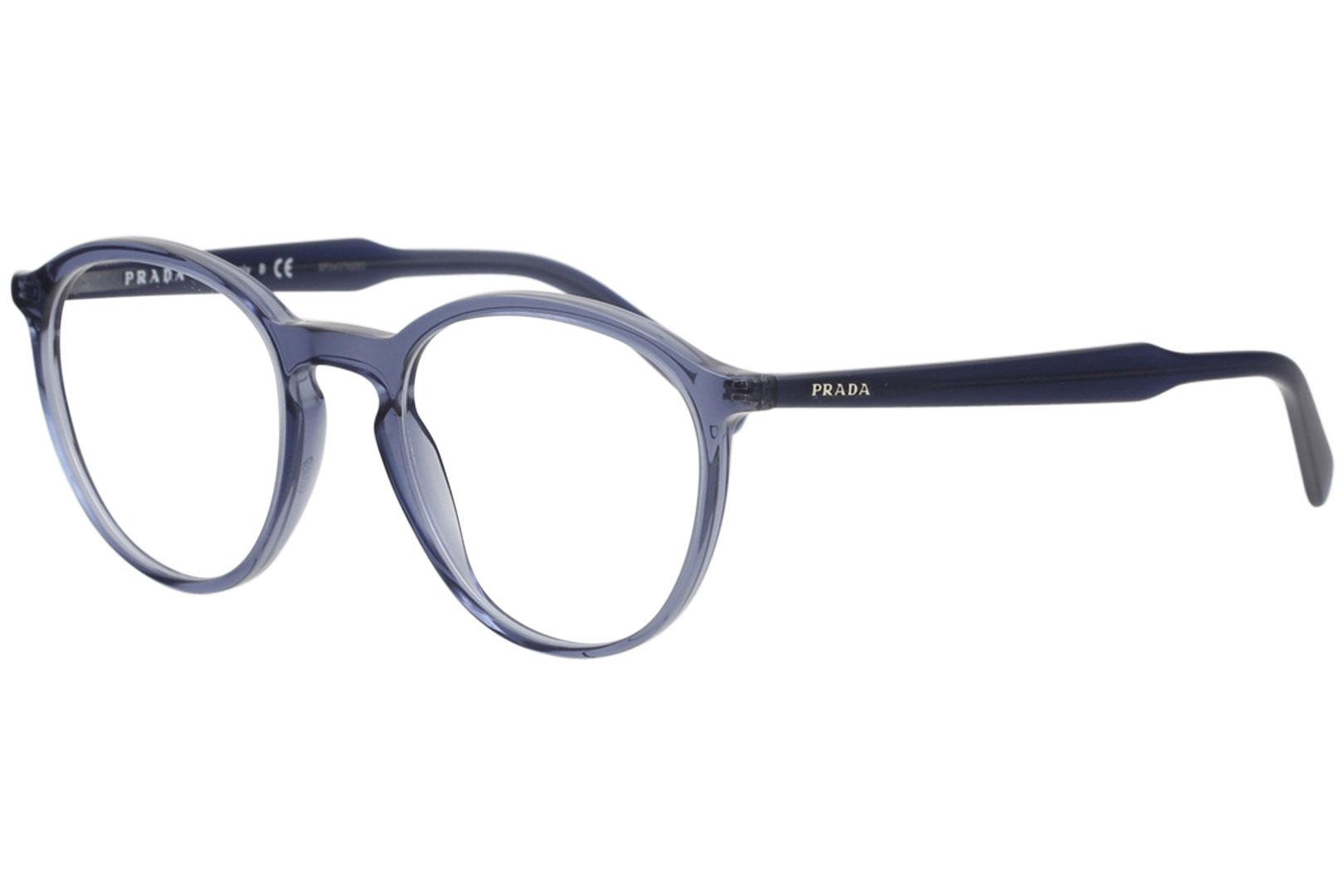 0976c237fcbfe Prada Eyeglasses VPR13T VPR 13T VAV 1O1 Transparent Blue Optical ...