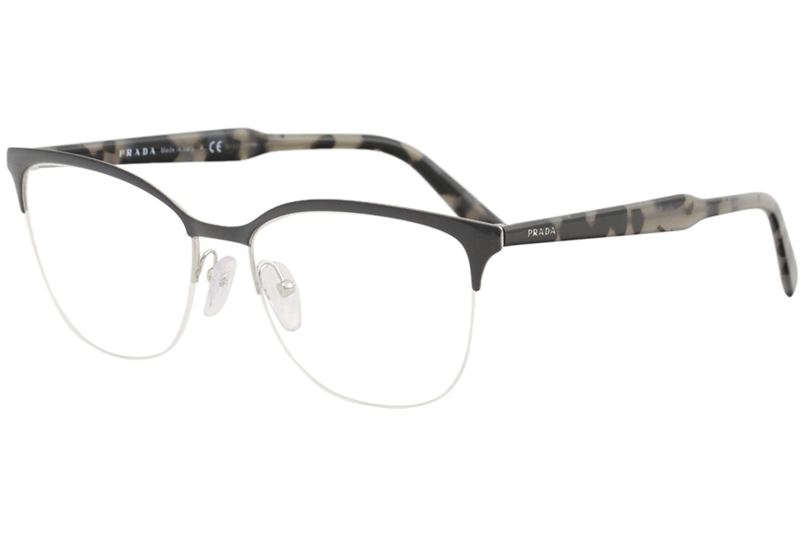 7b67f6fbf68d Prada Men s Eyeglasses VPR53V VPR 53 V 262 1O1 Grey Silver Optical ...