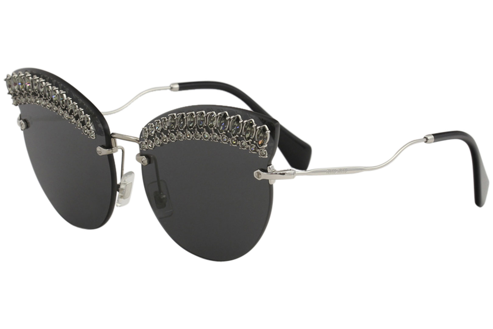 09d390d055f Miu Miu Women s SMU58T SMU 58T MPG 5S0 Silver Fashion Cat Eye ...