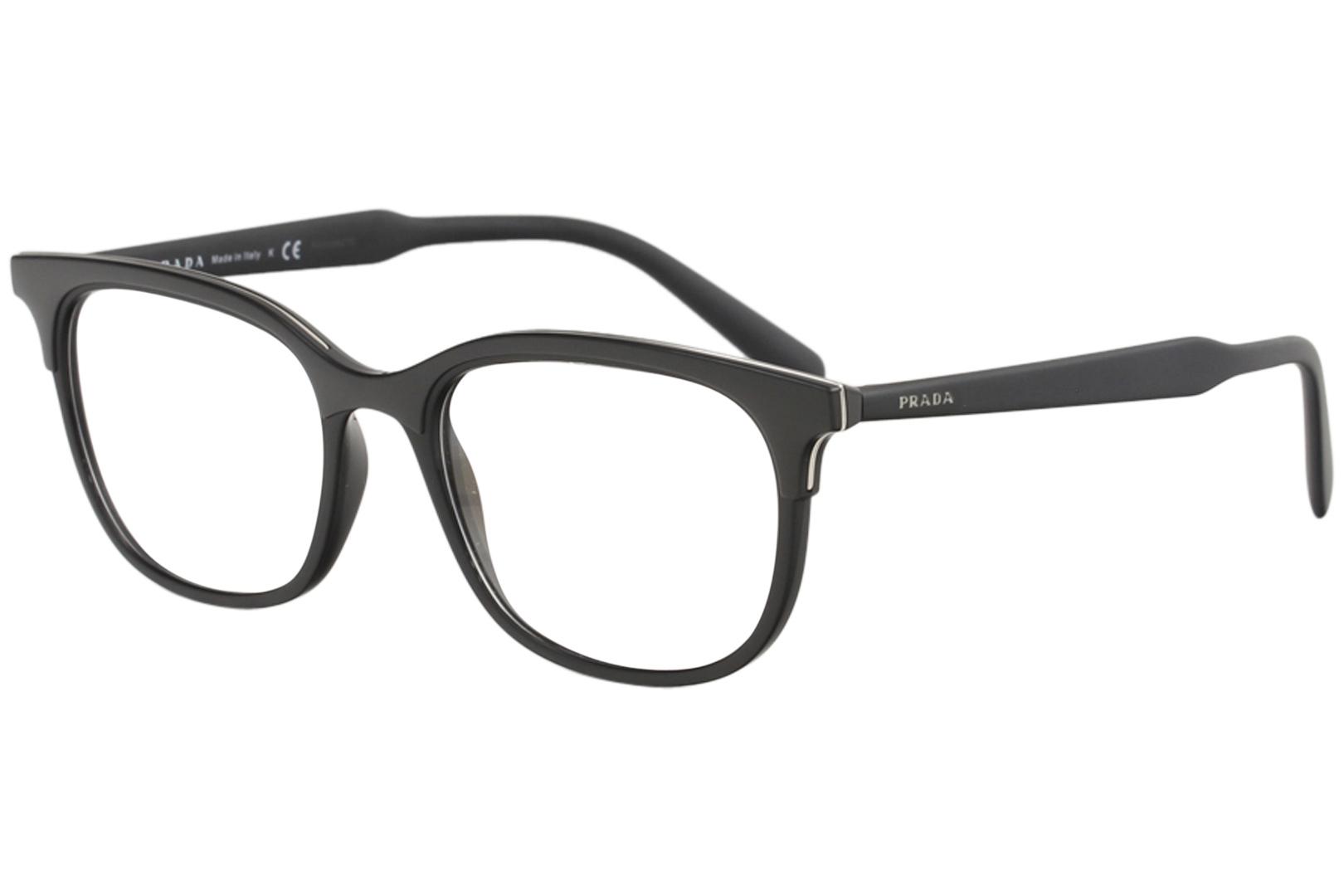 2d3e4ce04b Prada Men s Eyeglasses VPR05V VPR 05V 264 1O1 Black Full Rim Optical ...