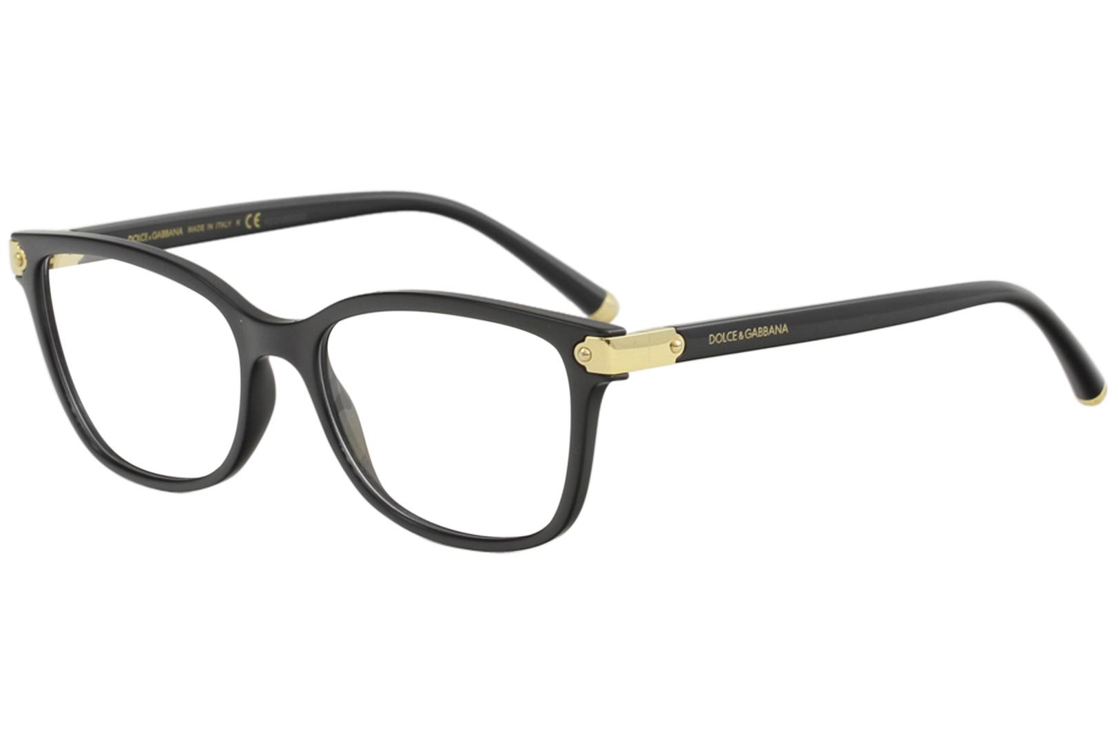 370db30fc4 Dolce   Gabbana Eyeglasses D G DG5036 DG 5036 501 Black Gold Optical ...