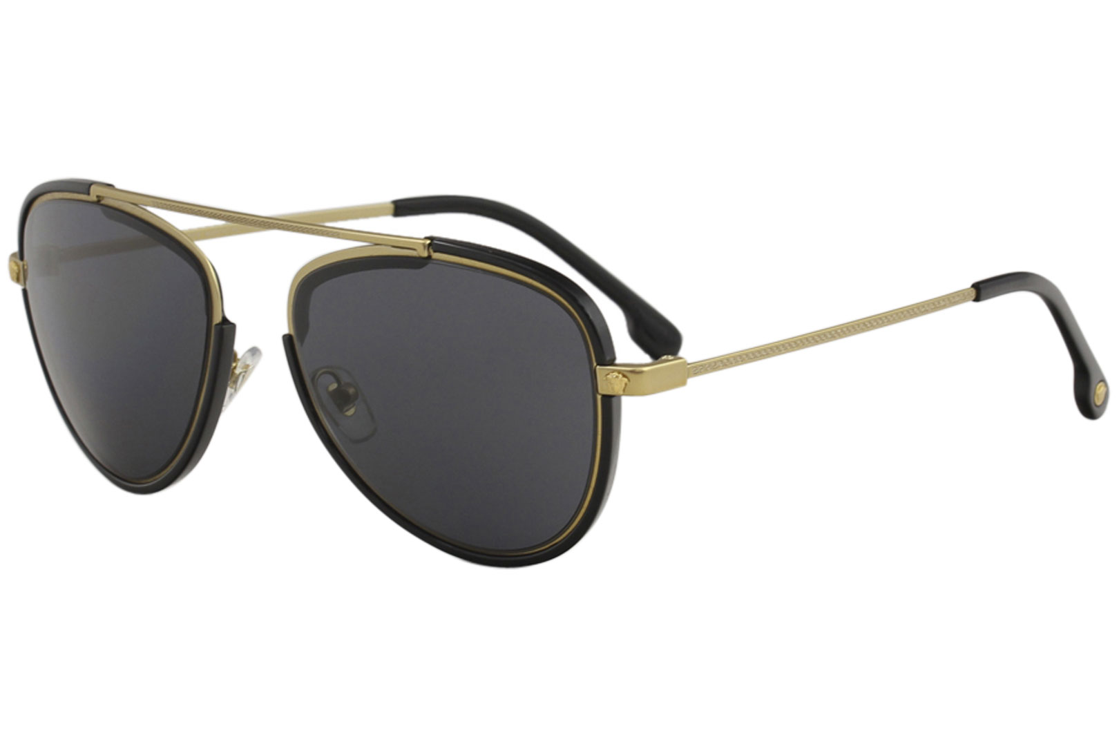Versace Men s VE2193 VE 2193 1428 87 Tribute Gold Black Pilot ... c5d11cb755