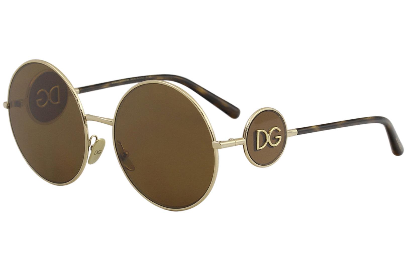 da5534fb78bfb Dolce   Gabbana Women s D G DG2205 DG 2205 02 73 Gold Round ...
