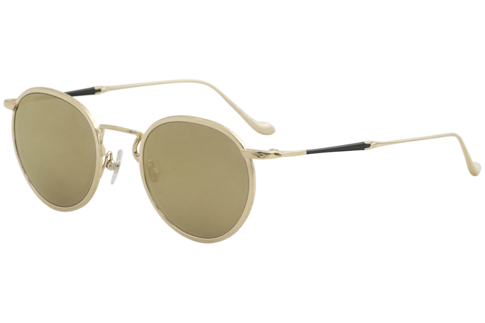 54d6cffe8 Matsuda Men's M3058 M/3058 BG Brushed Gold Fashion Round Sunglasses ...