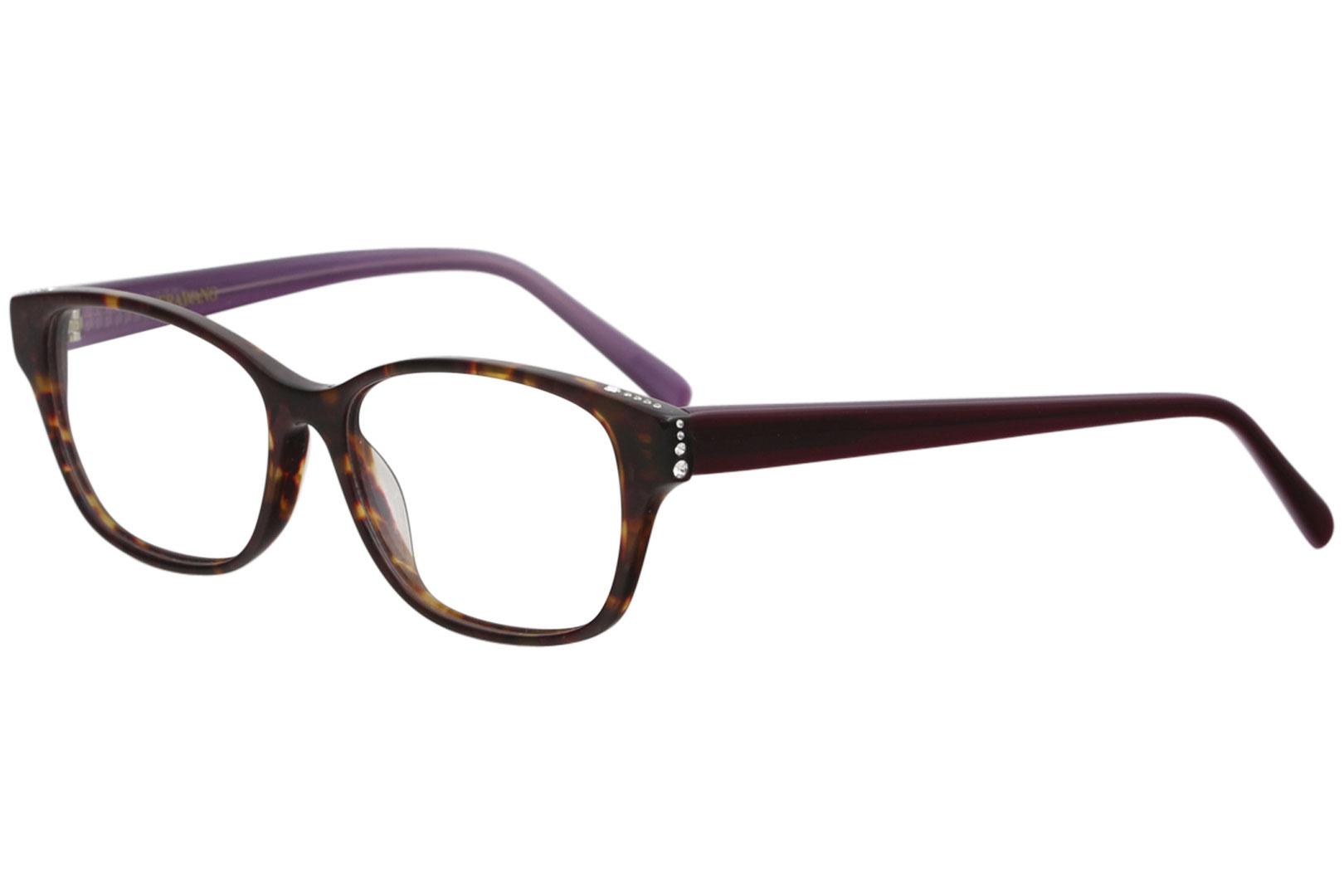 VERA WANG Eyeglasses ELGANTINE Tortoise 52MM