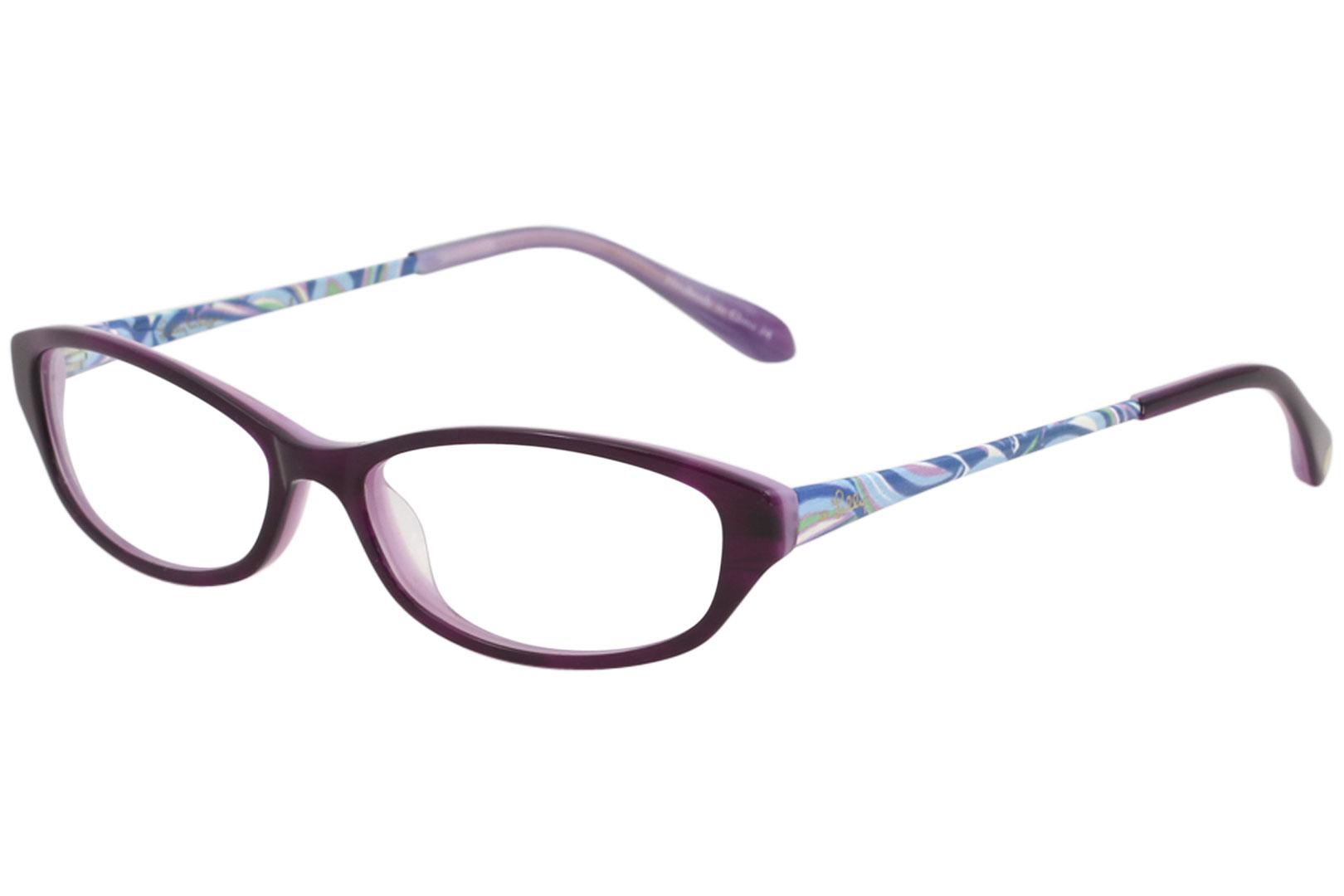 247b8ceb63 Lilly Pulitzer Women s Eyeglasses Avaline PL Purple Full Rim Optical ...