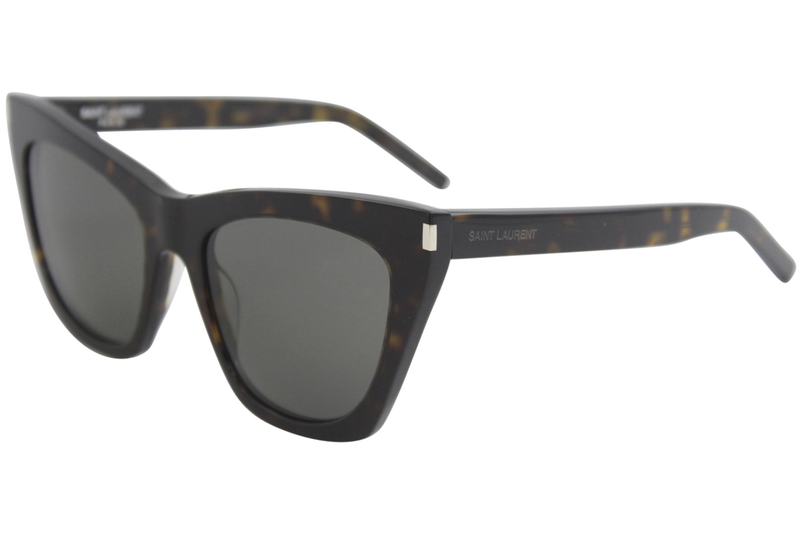 49b3536f3bd Details about Saint Laurent Women s Kate SL214 SL 214 006 Havana Cat Eye  Sunglasses 55mm