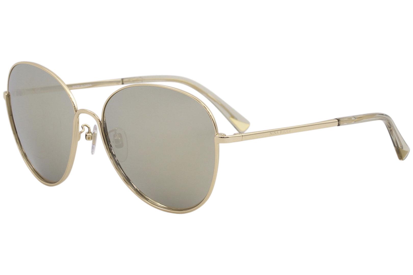 644b09cb63 Nina Ricci Women s SNR061 SNR 061 300G Shiny Gold Fashion Square ...