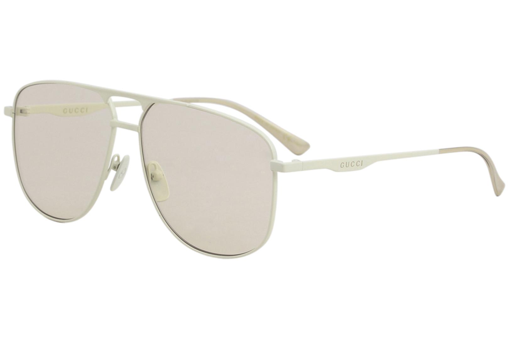 c167f93441b Gucci Men s GG0336S GG 0336 S 006 Ivory Fashion Pilot Sunglasses ...