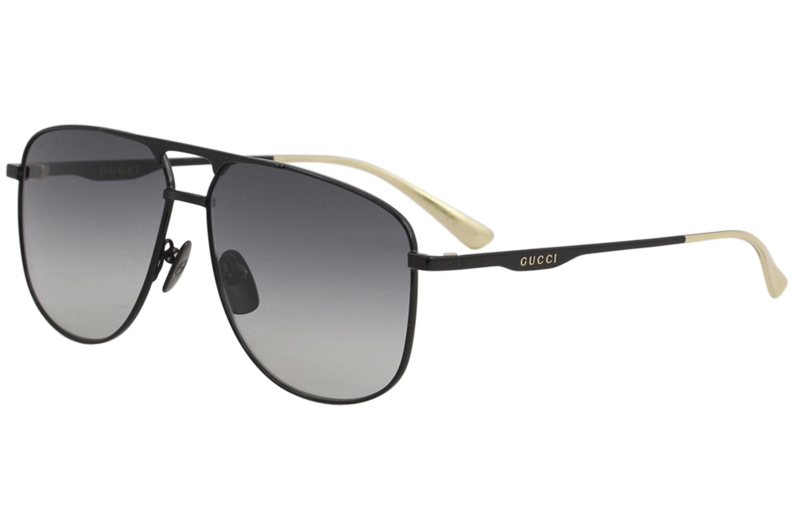 e02125a1fdd Gucci Men s GG0336S GG 0336 S 002 Black Fashion Pilot Polarized ...