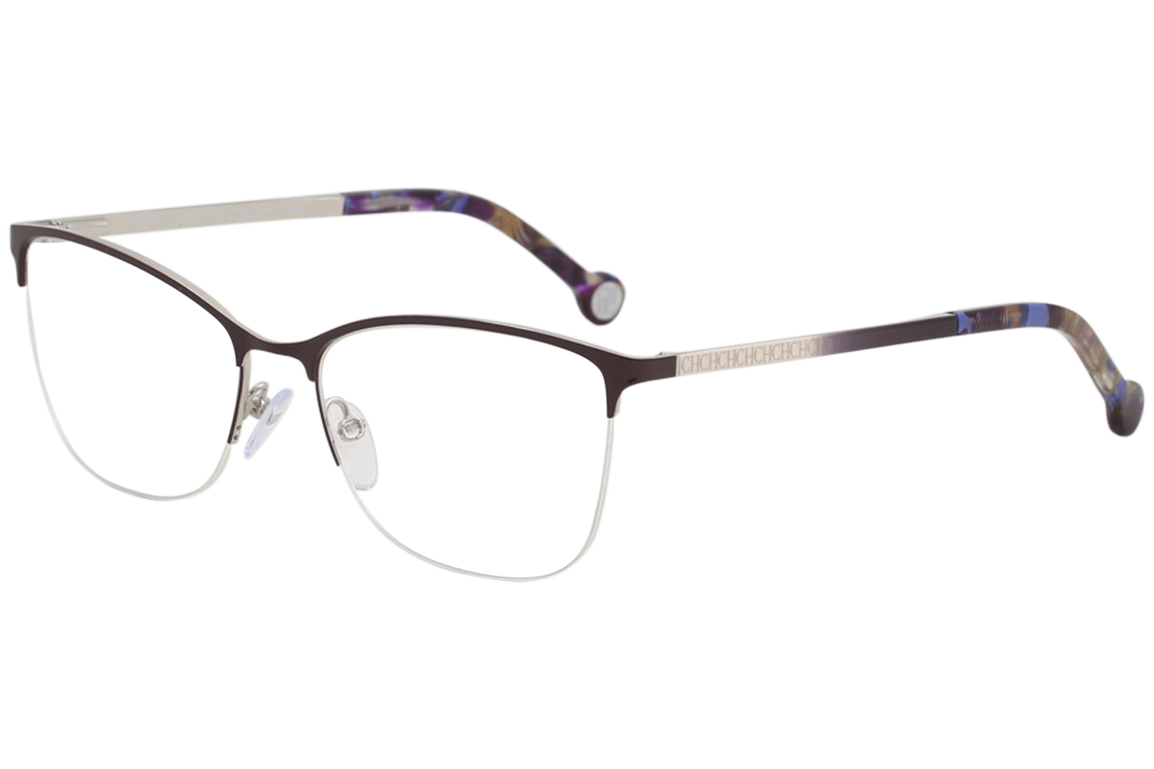 438446bcbf32 CH Carolina Herrera Eyeglasses VHE108K VHE/108K 0SDA Burgundy ...