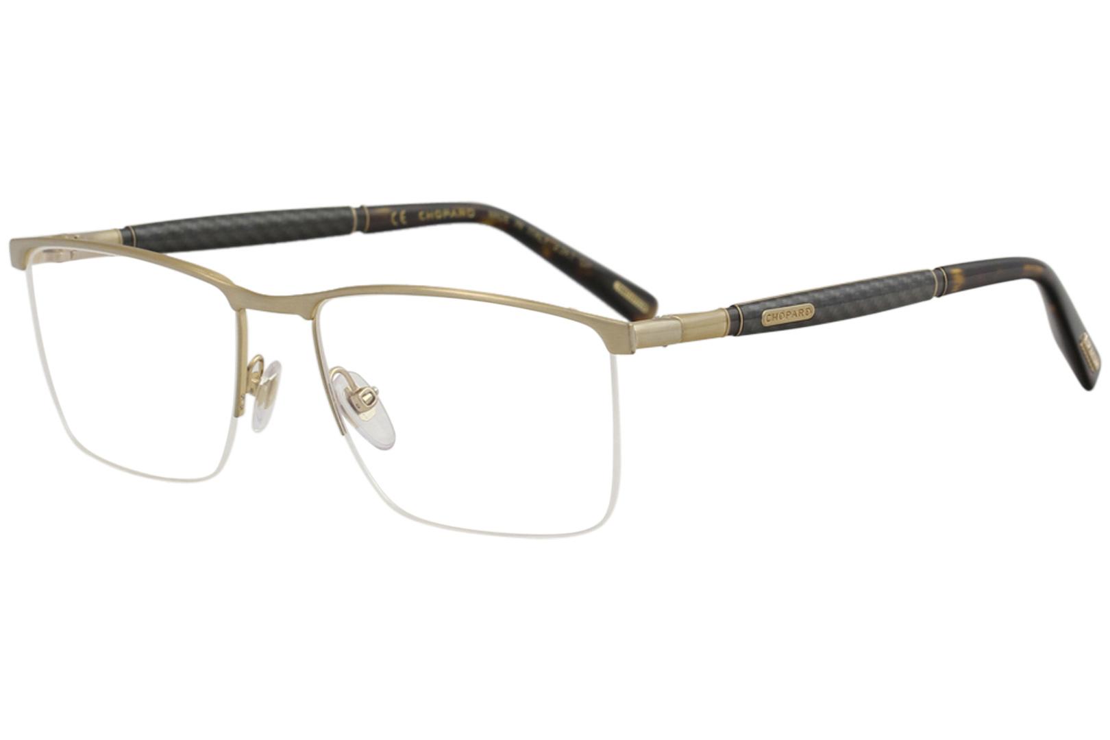 6007b05a37a Chopard Eyeglasses VCHC38 VCH C38 0H22 23K Gold Half Rim Optical ...