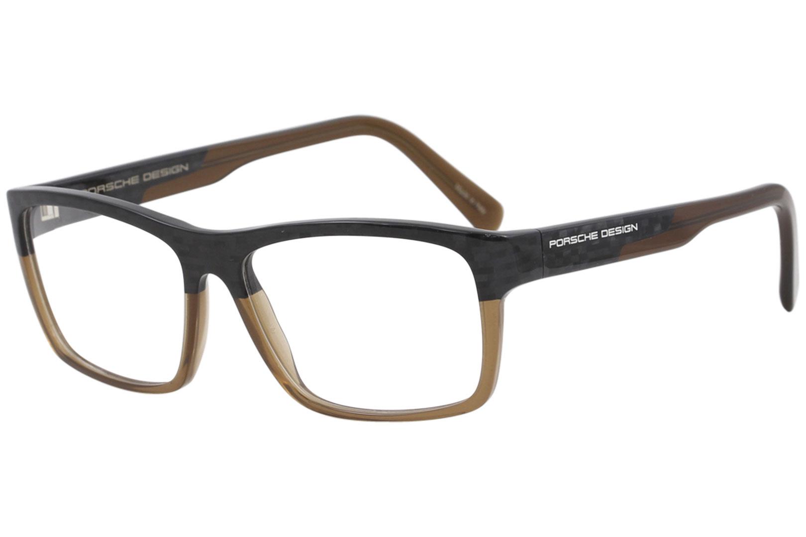 9643800261 Porsche Design Men s Eyeglasses P8190 P 8190 C Carbon Brown Optical ...