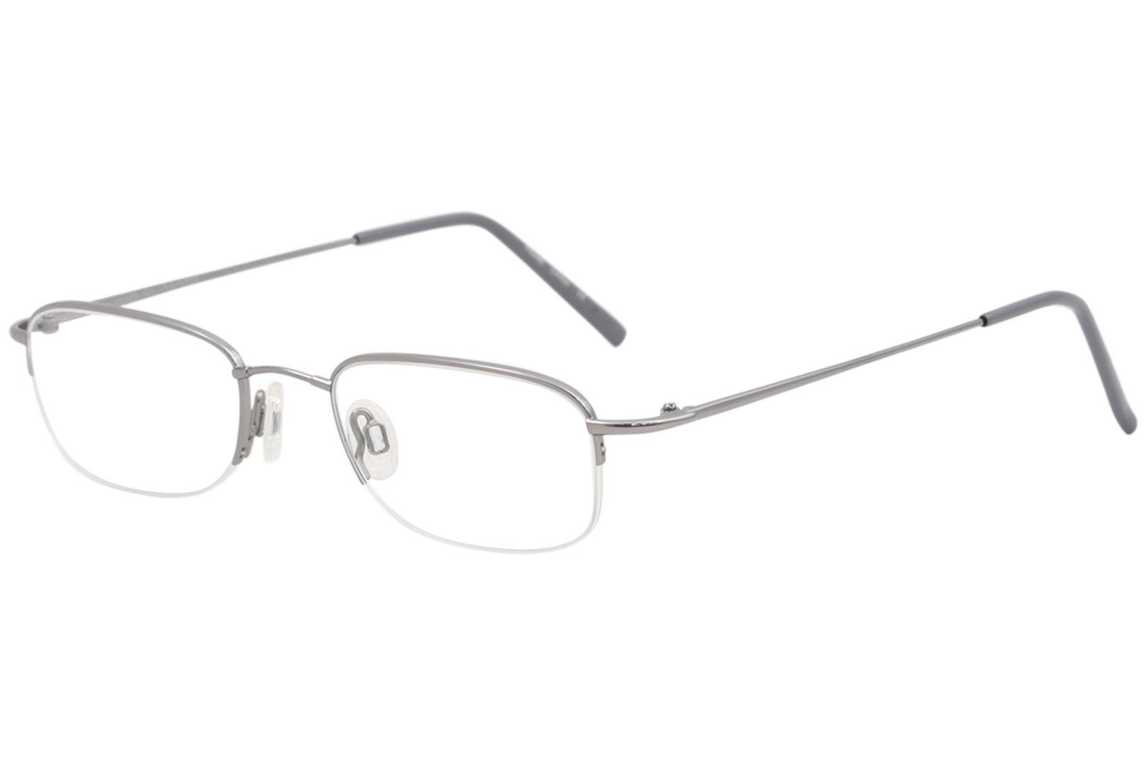 c202f8d57b4 Flexon Men s Eyeglasses 607 033 Light Gunmetal Half Rim Optical ...