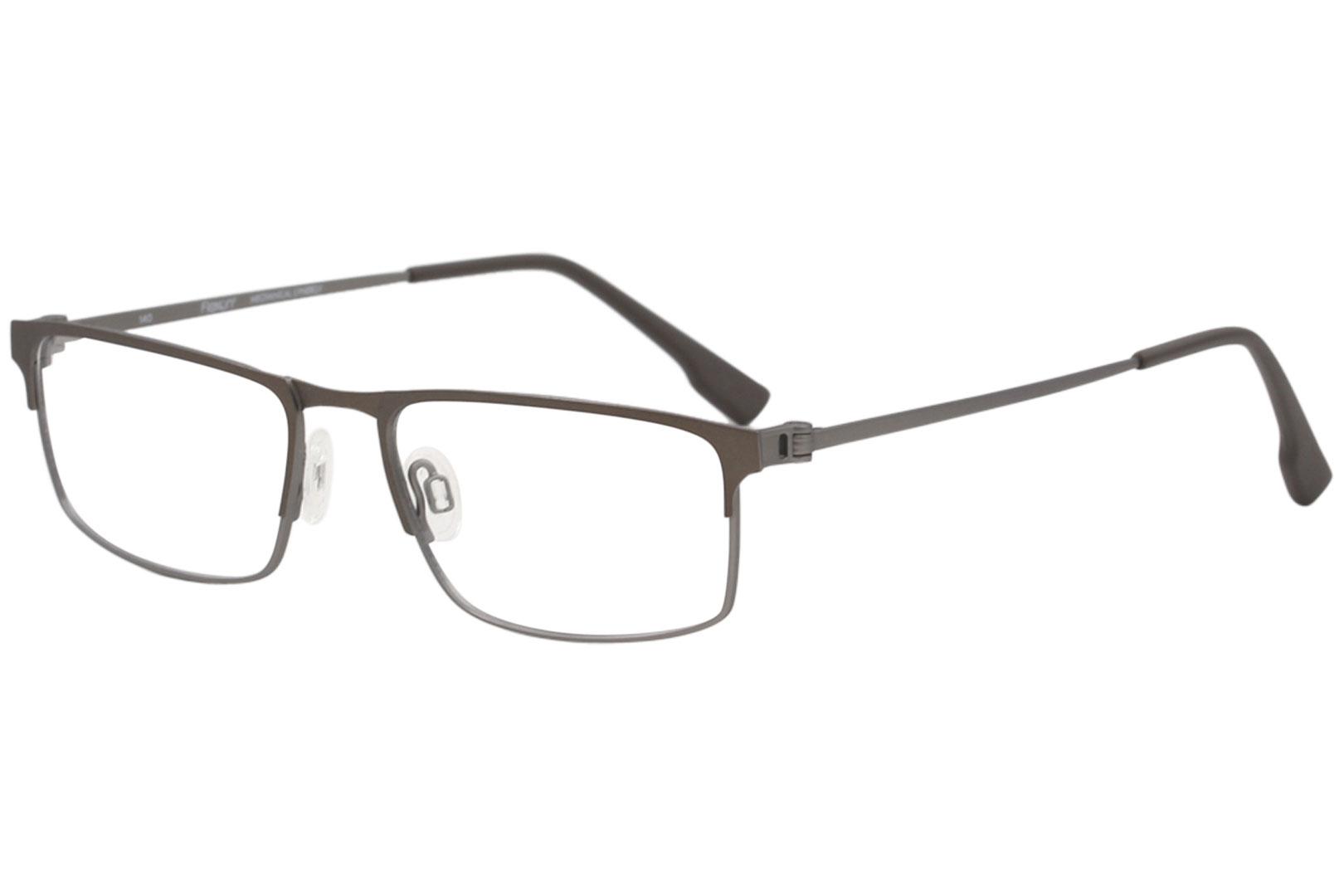 6bd6000ed77 Flexon Men s Eyeglasses E1075 E 1075 210 Brown Gunmetal Optical ...