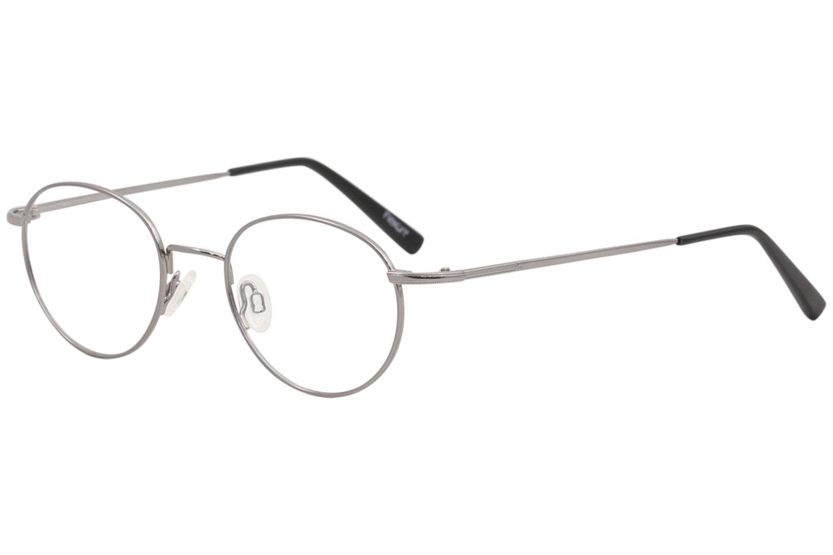 677a7e00932 Flexon Men s Eyeglasses Edison 600 003 Gunmetal Full Rim Optical ...