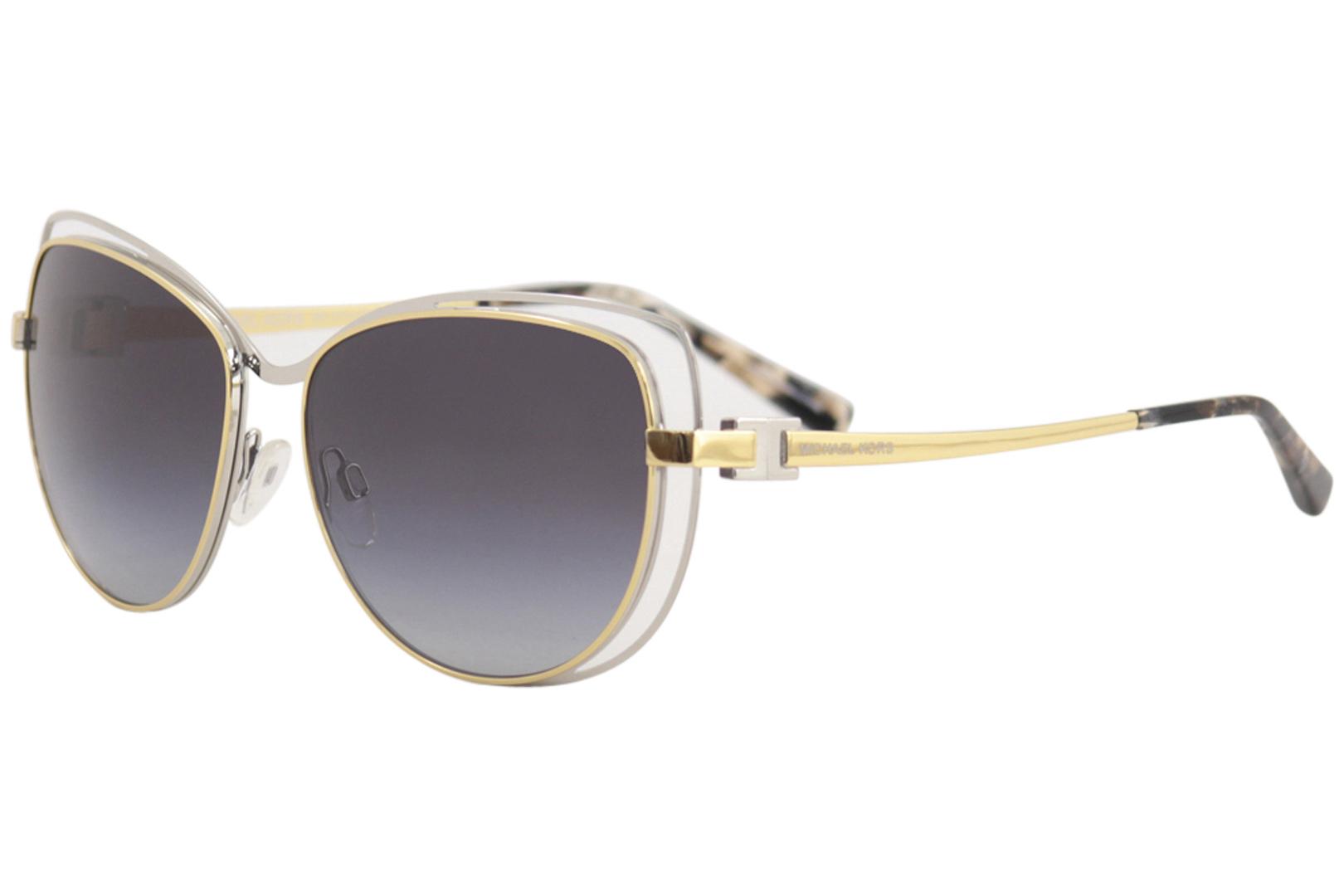 07a414351a56c Michael Kors Audrina MK1013 MK 1013 112011 Silver Gold Cat Eye ...