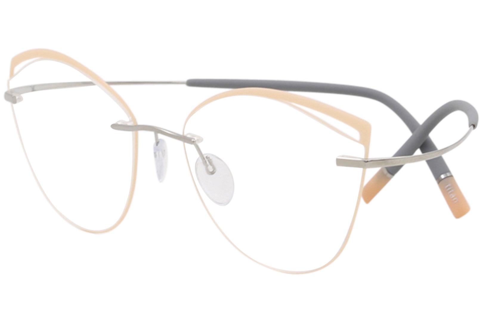 310dd561ec1 Silhouette Eyeglasses Titan Minimal Art Icon Accent Rings FU 5518 ...