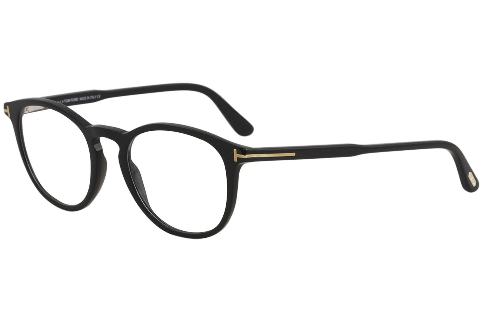 Tom Ford Men s TF5401 TF 5401 001 Shiny Black Full Rim Optical Frame ... 5b23658a09