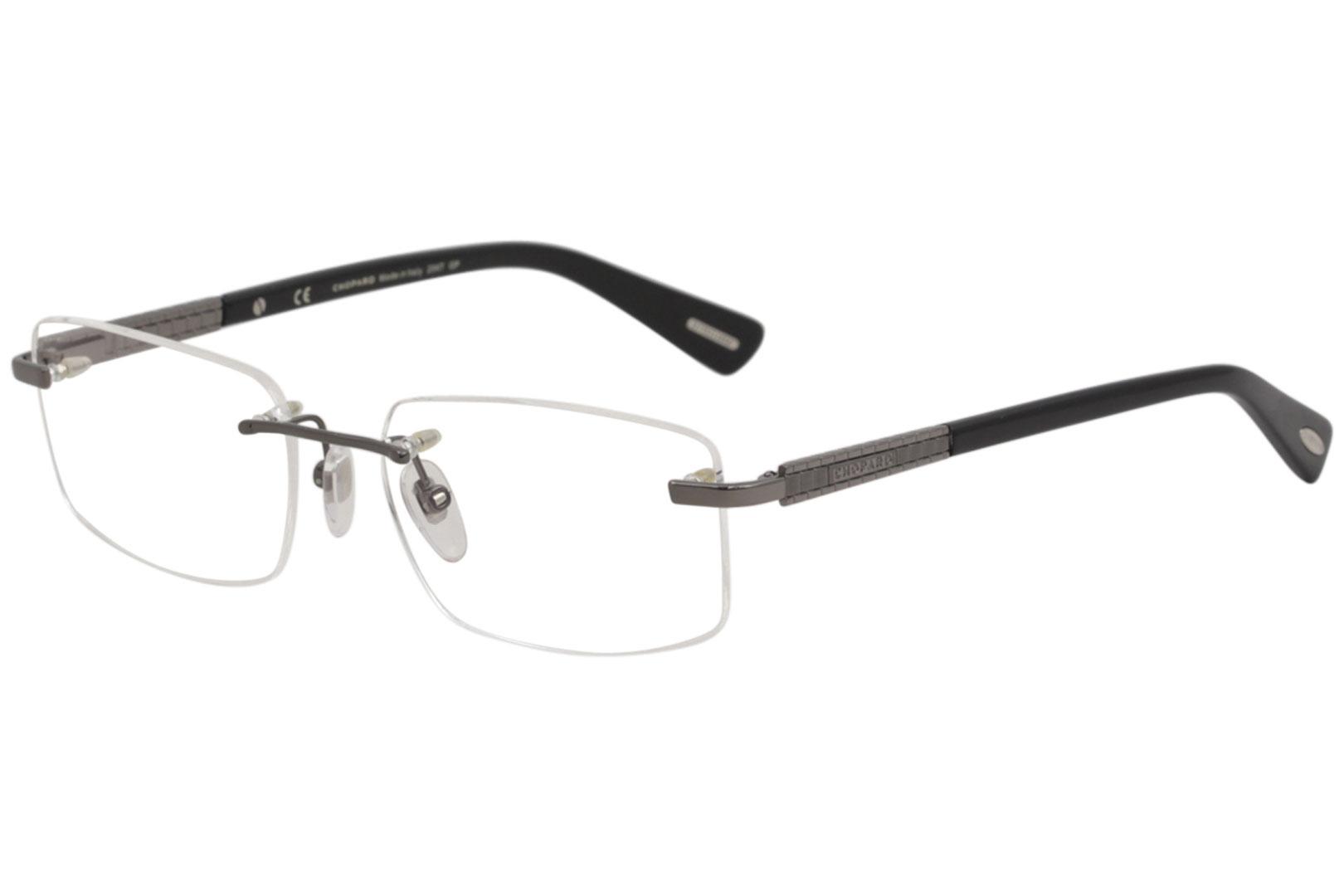 cb3de2a048 Chopard Eyeglasses VCHB37 VCHB 37 0568 Gunmetal 23K Gold Optical ...
