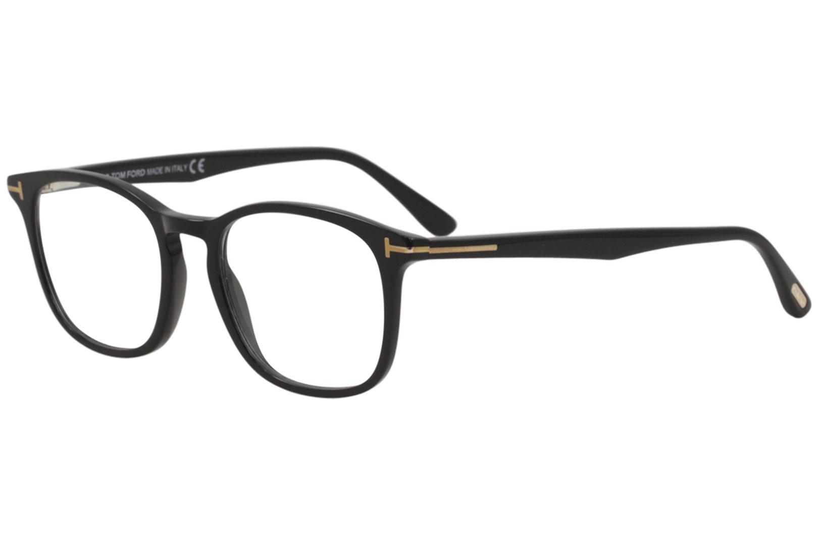 774e074349bf Details about Tom Ford Men s Eyeglasses TF5505 TF 5505 001 Shiny Black Optical  Frame 52mm