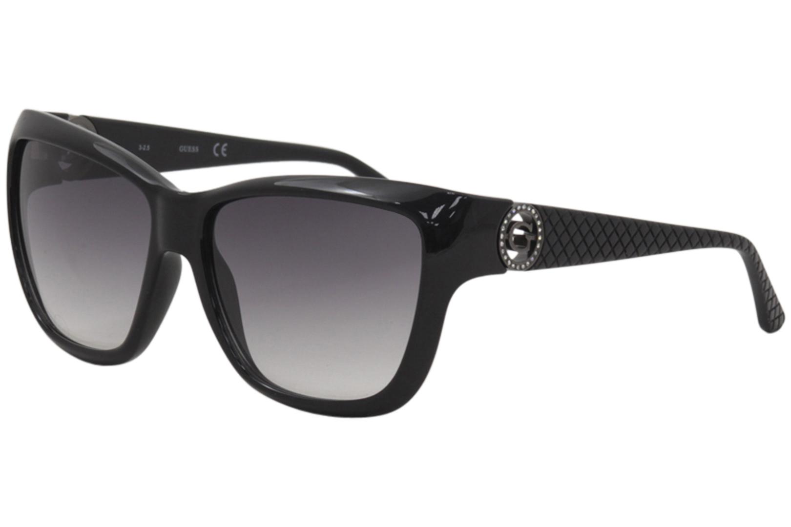 896d09cfd78 Guess Women s GU7374 GU 7374 BLK-35 Black Fashion Square Sunglasses 57mm