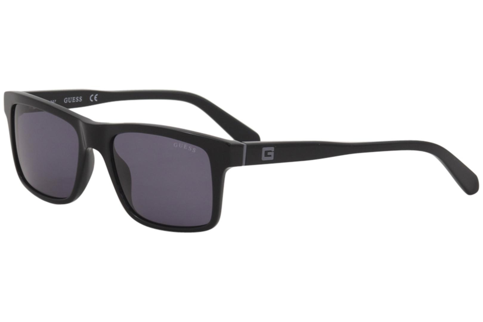 a4c3e38c16 Guess Men s GU6886 GU 6886 01A Black Fashion Rectanlge Sunglasses ...