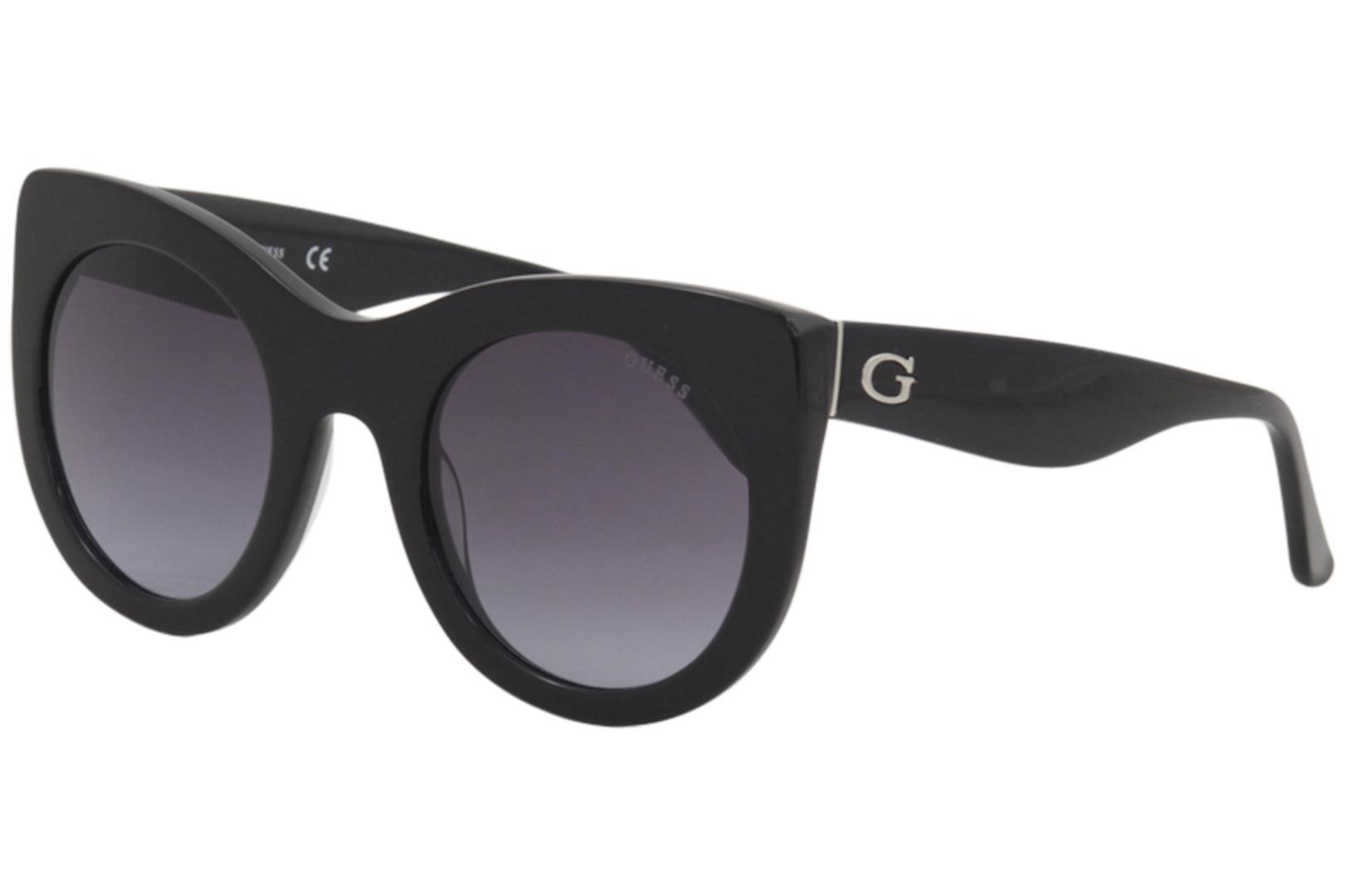 25379f92e3 Guess Women s GU7485 GU 7485 01B Black Fashion Cateye Sunglasses ...