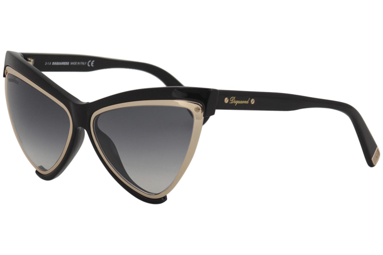 d93c39bef7d Dsquared2 Women s DQ0240 DQ 0240 01B Black Fashion Cateye Sunglasses ...