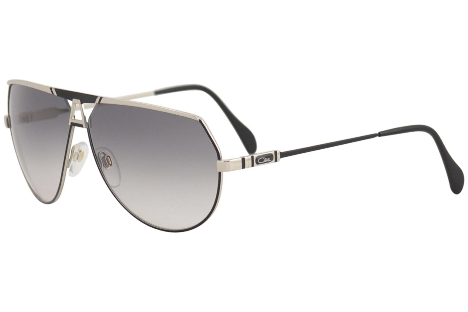 8c350b06f3d0 Cazal Legends Men s 953 914SG Black Silver Retro Pilot Sunglasses ...