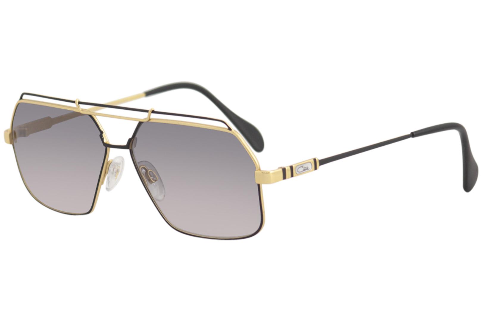 0716948ed0 Cazal Legends Men s 734 3 302SG Black-Gold Grey Fashion Pilot ...