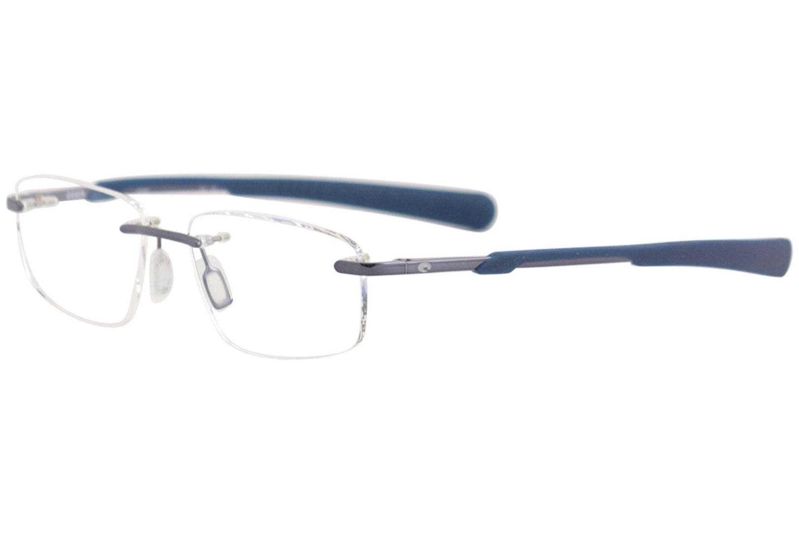 6397de077a Costa Del Mar Eyeglasses Seamount SMT100 175 Shiny Blue Optical ...