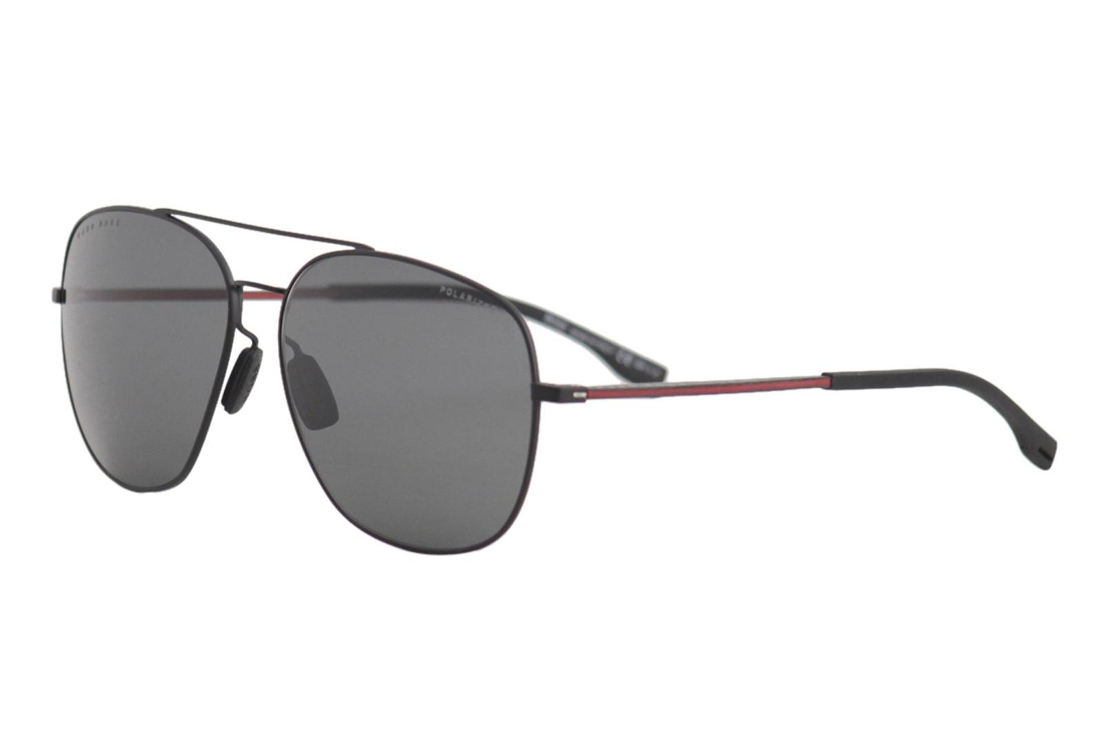 0eef4d9036a Details about Hugo Boss 1032FS 1032 F S 003M9 Matte Black Pilot Polarized  Sunglasses 62mm