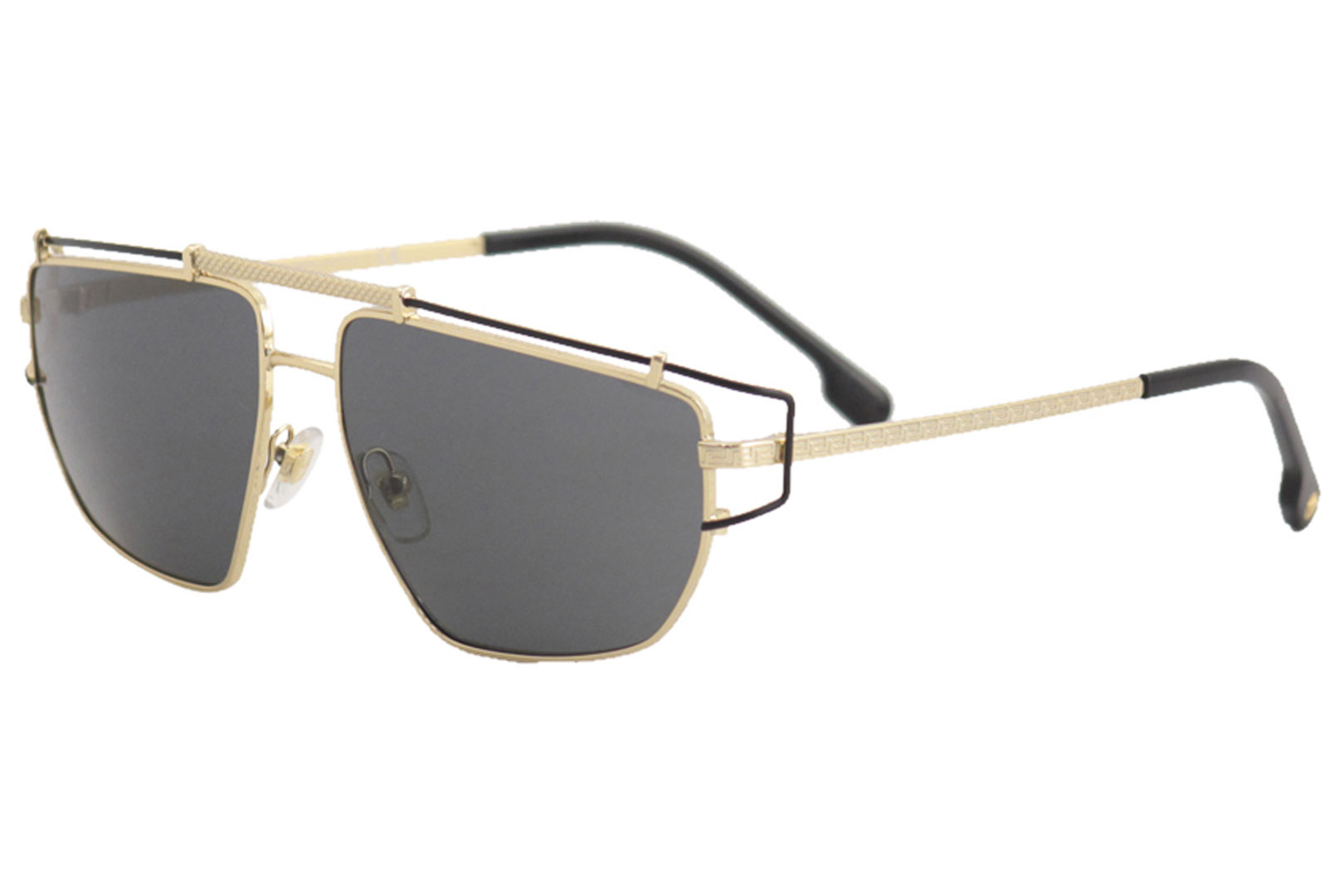5eef8be14b73 Versace Men s VE2202 VE 2202 1436 87 Gold Fashion Pilot Sunglasses ...