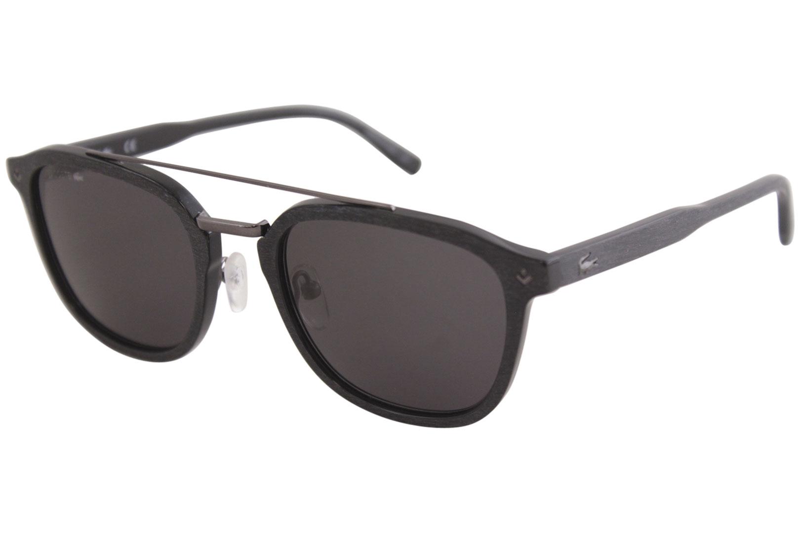 df5b30d355c Lacoste Men s L885S L 885 S 001 Black Fashion Pilot Sunglasses 52mm ...