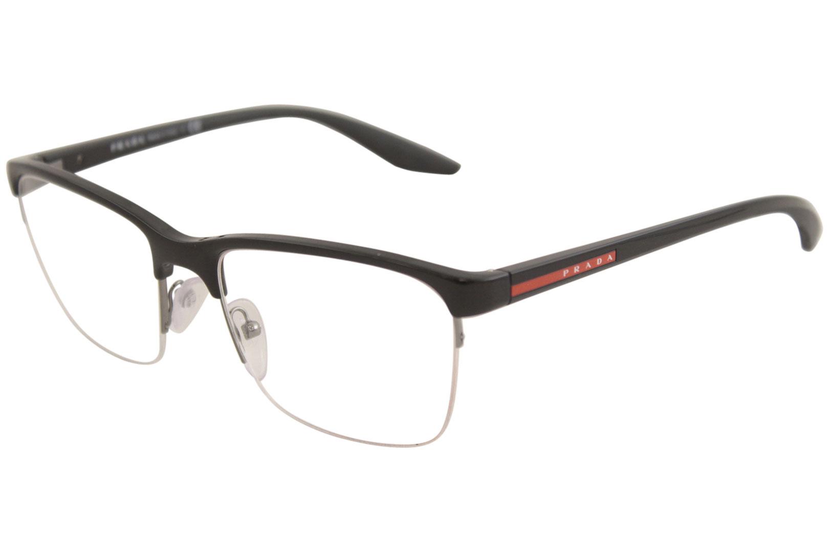 35e13b6319e Prada Linea Rossa Eyeglasses VPS02L VPS 02 L 1AB 1O1 Black Optical ...