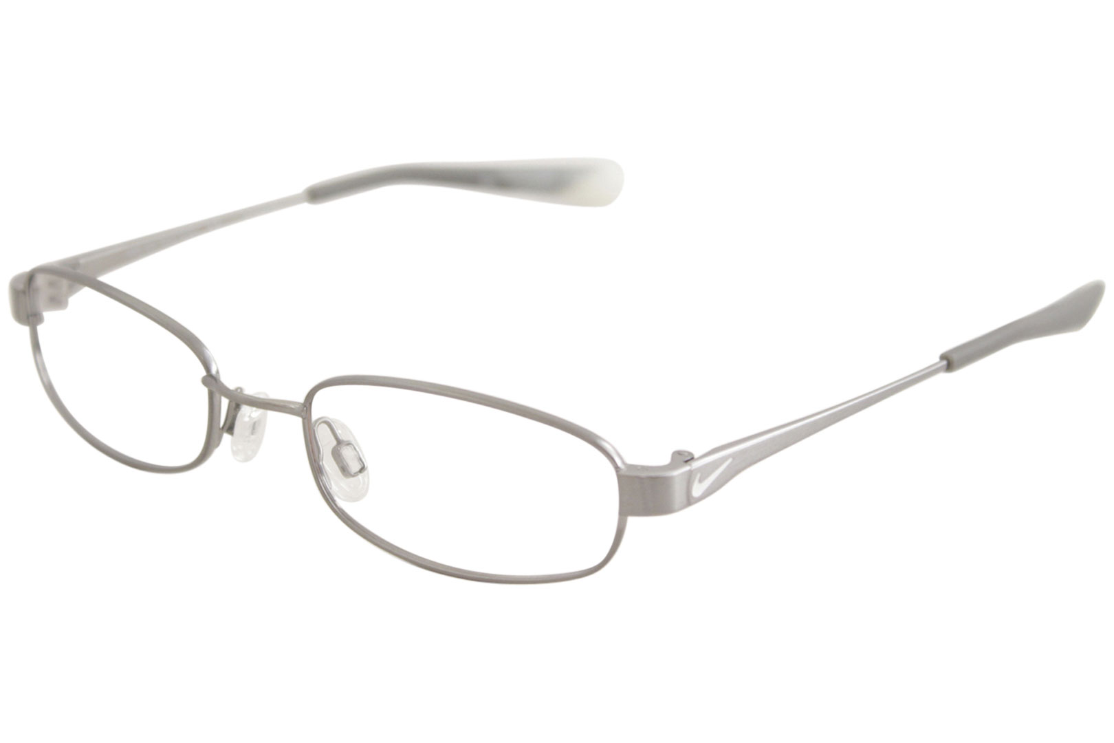 4cf5cfefd97b Nike Youth Boy s Eyeglasses 4638 033 Gunmetal White Flexon Optical ...