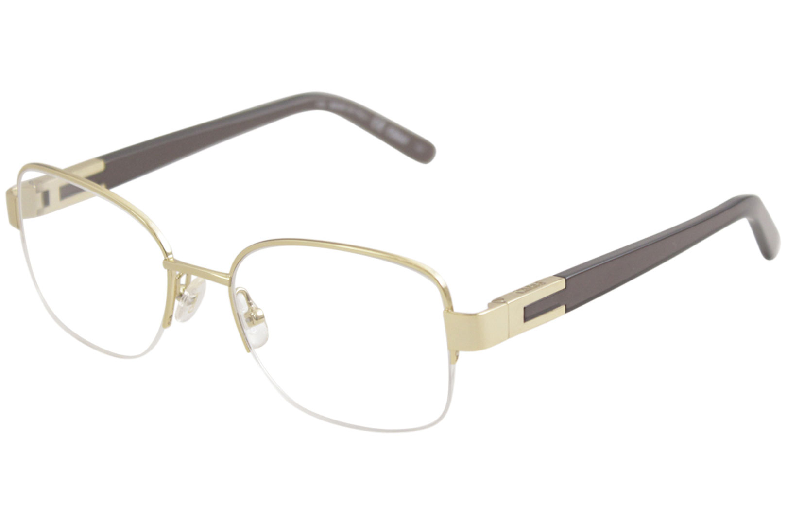 c7685e26b40 Chloe Eyeglasses CE2119 CE 2119 744 Gold Grey Half Rim Optical Frame ...