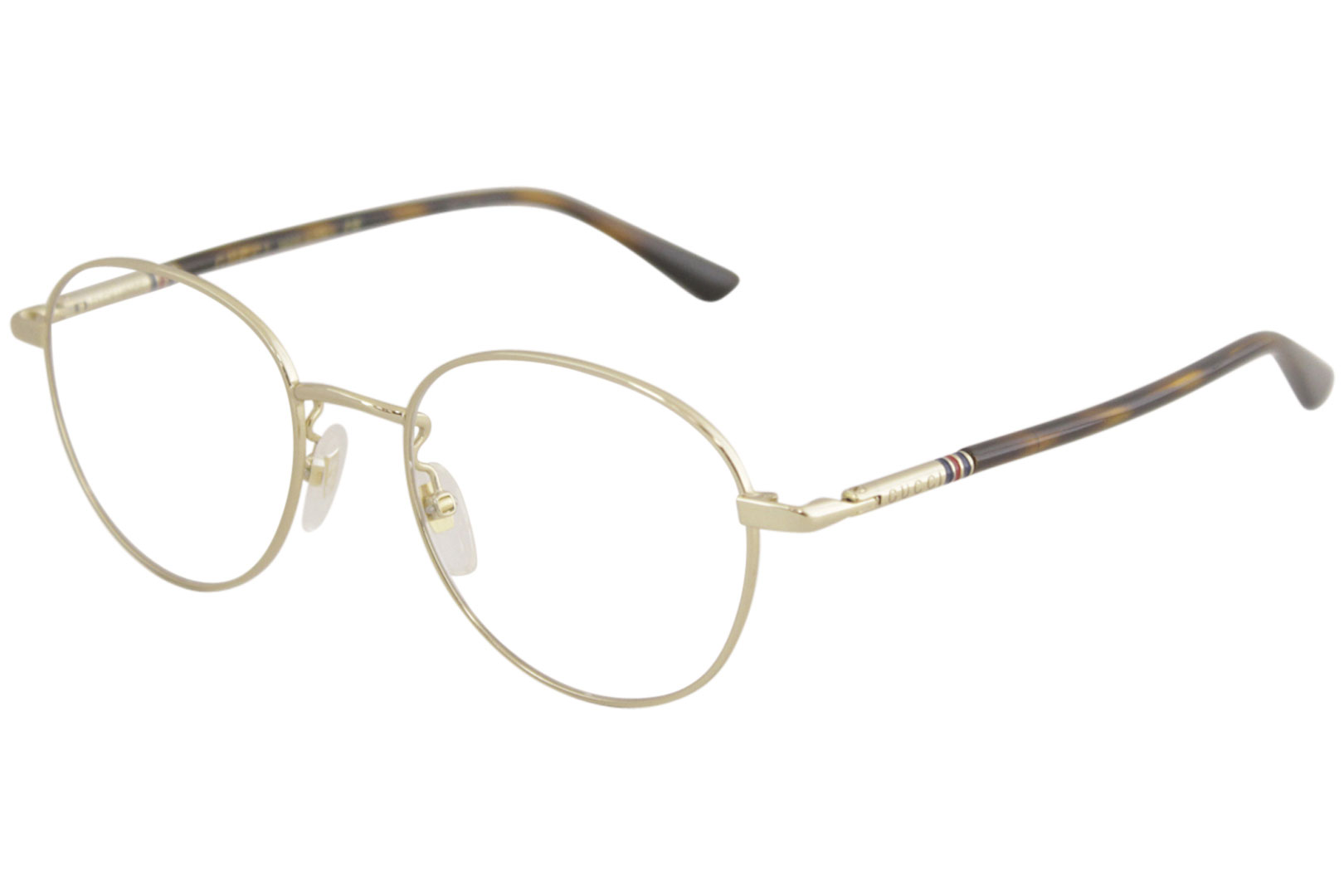 c97a17468fd Gucci Men s Eyeglasses GG0392O GG 0392 O 003 Gold Havana Optical ...