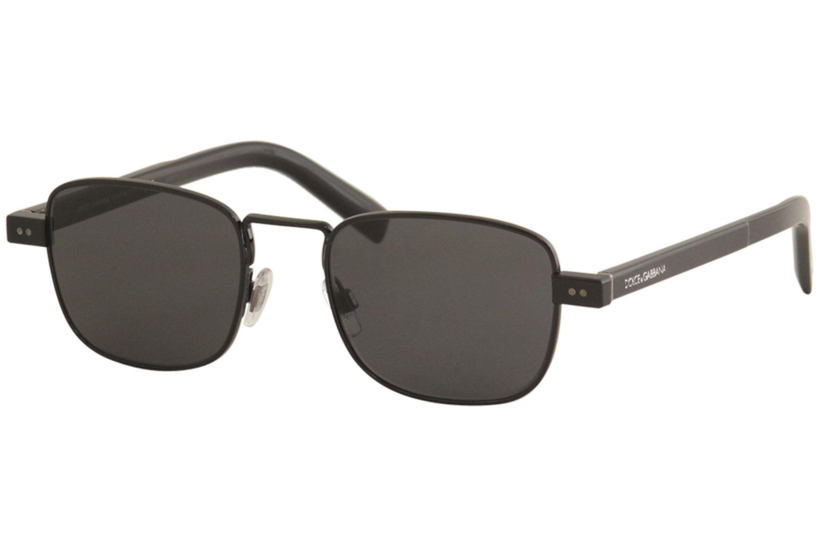 fd1c189cd37c Dolce & Gabbana Men's D&G DG2222 DG/2222 01/87 Black Rectangle ...