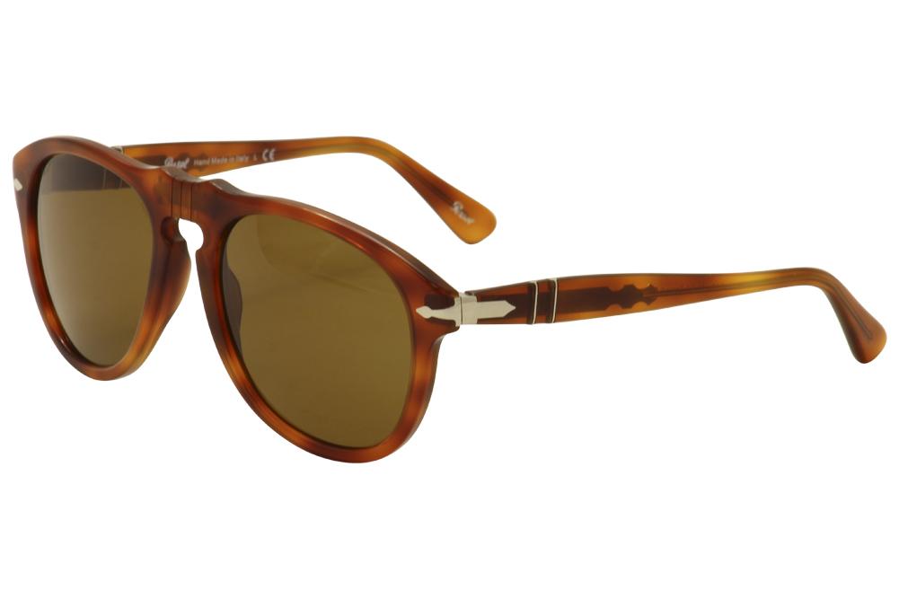 70f04b2d2d8 Persol Men s PO0649 PO 0649 96 33 Light Havana Pilot Sunglasses 54mm ...