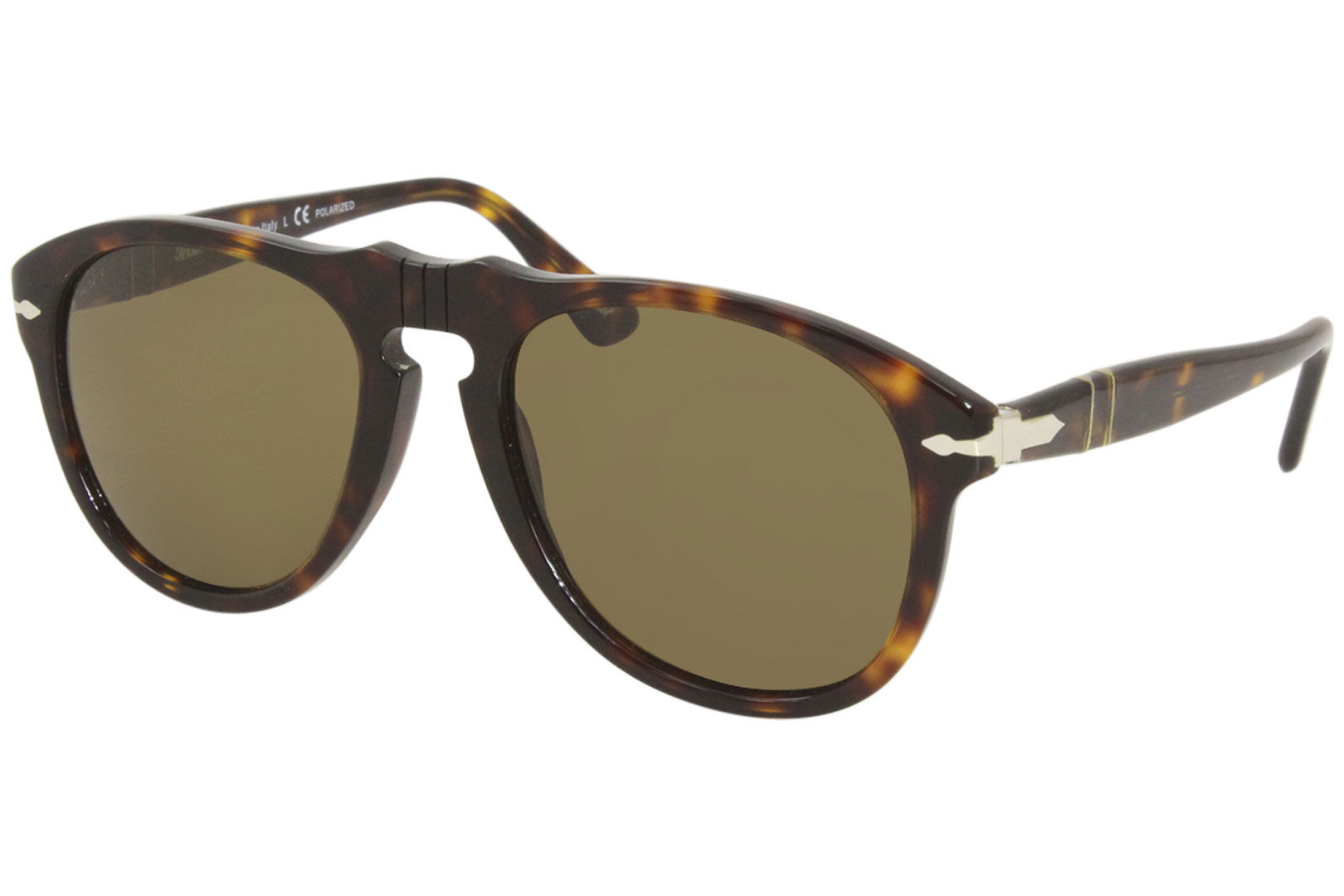 025ceabc6c9b3 Persol Men s PO649 PO 649 24 57 Havana Brown Pilot Polarized ...