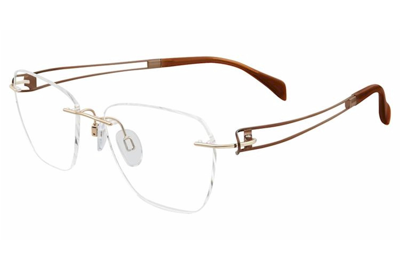 Charmant Eyeglass Frames Titanium Line Art XL 2116 GD Gold | eBay