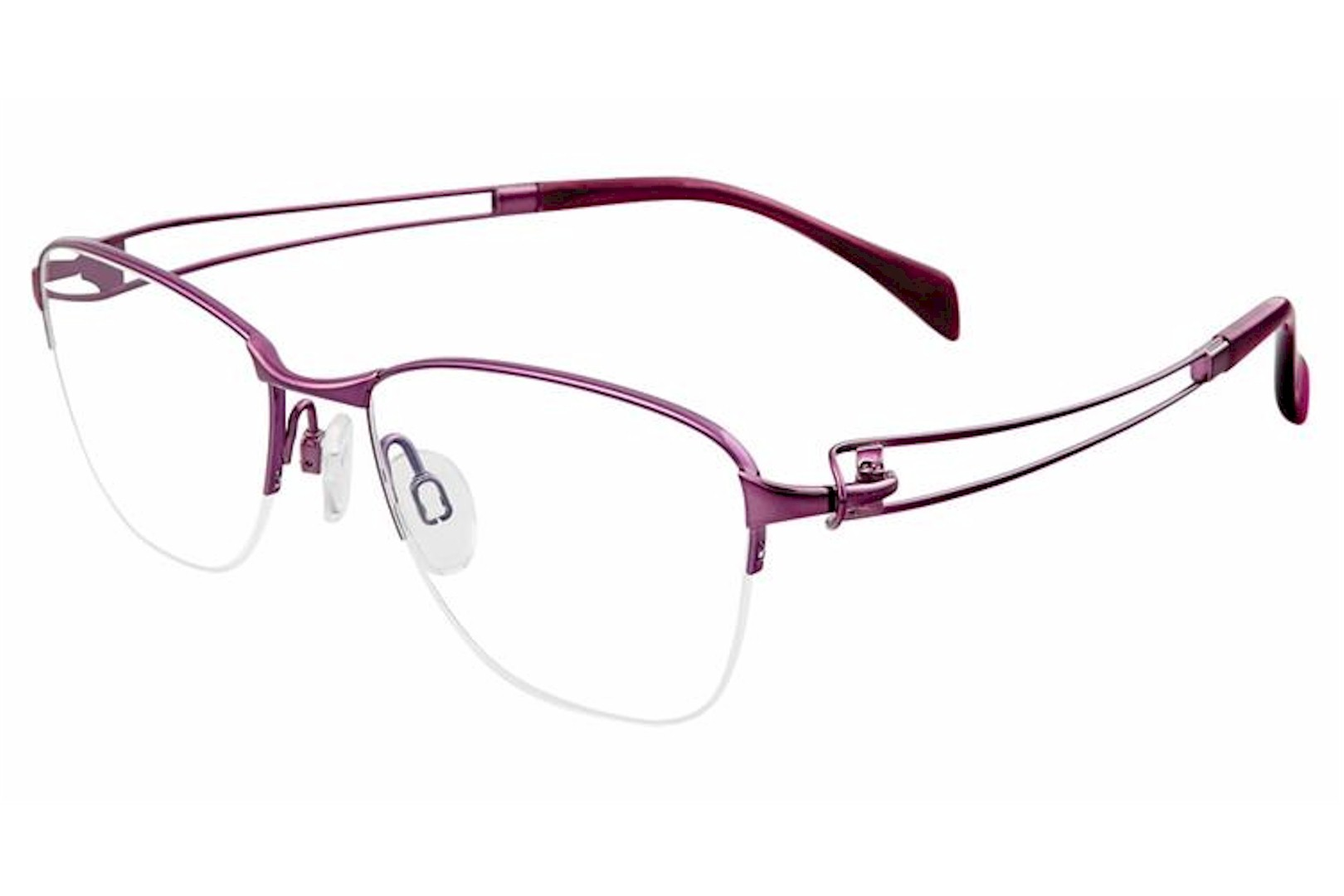 Charmant Eyeglass Frames Titanium Line Art XL 2118 PU Purple Women ...