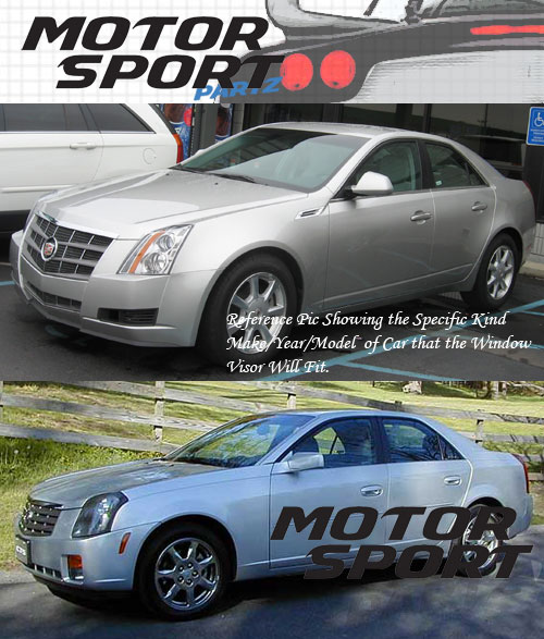 4pcs Visor Rain Guards Wind Deflector Cadillac CTS 2003 2004 2005-2007 03-07