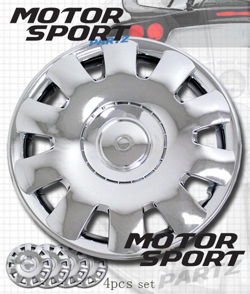 "Hubcap 15 inch Chrome Rim Wheel Skin Cover 4pc Set 15"" inches Hub Caps Style 032"